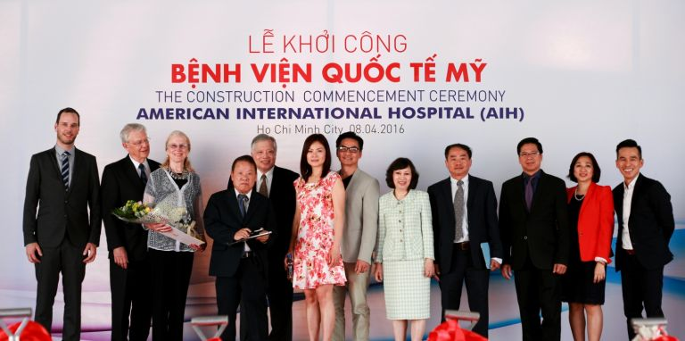 Ground-breaking ceremony at American International Hospital