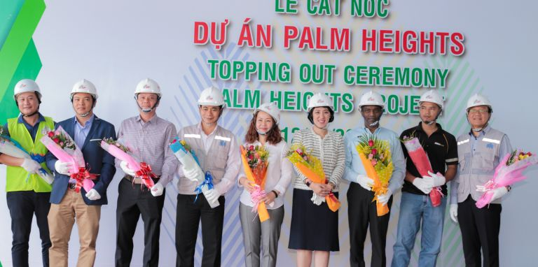Topping out ceremony of Palm Heights in District 2