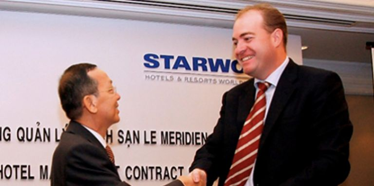 Superintentent agreement signed by tien phuoc and Starwood over Le Leridien Saigon Hotel