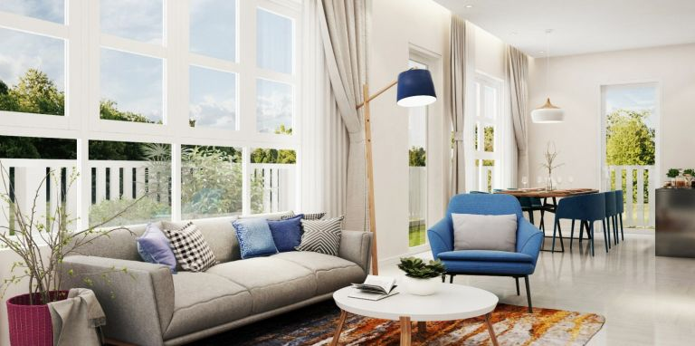 Mediterranean-styled villa complex
