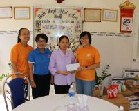 Visiting children at Thien Phuoc Nhan Ai shelter