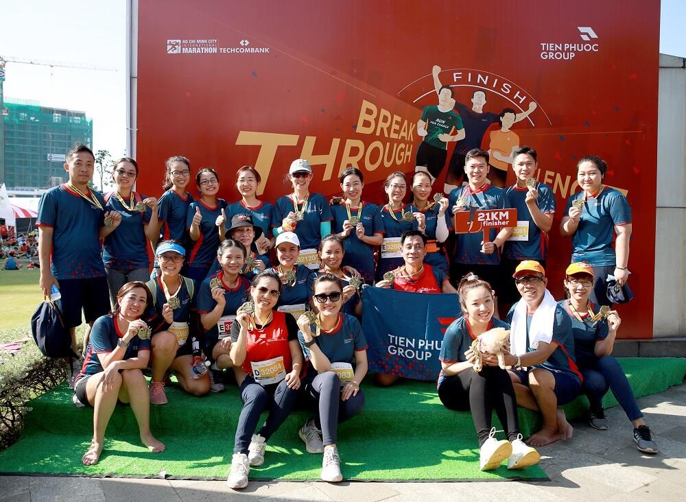 Hơn 200 khách hàng và nhân viên TP tham gia giải chạy Techcombank marathon lần 4